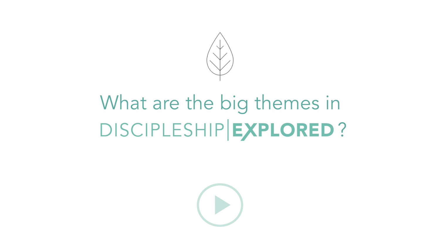 Question 6*What are the big themes in Discipleship Explored?